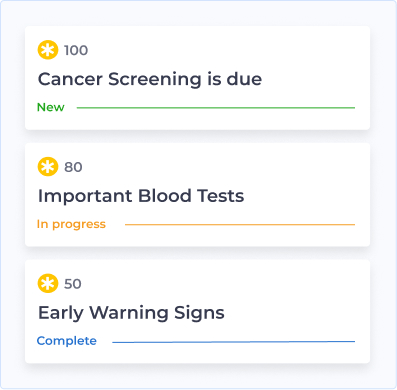 image showing examples of the health plan provided by Halogen Health