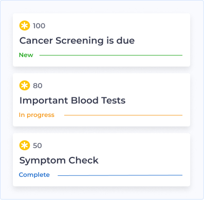 image showing examples of the health checks provided by Halogen Health